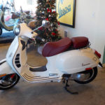 2017 Vespa GTS 300 Super With Red Leather Seat