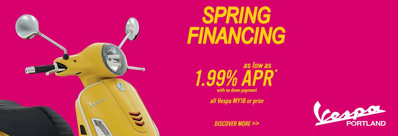 Vespa Spring Financing