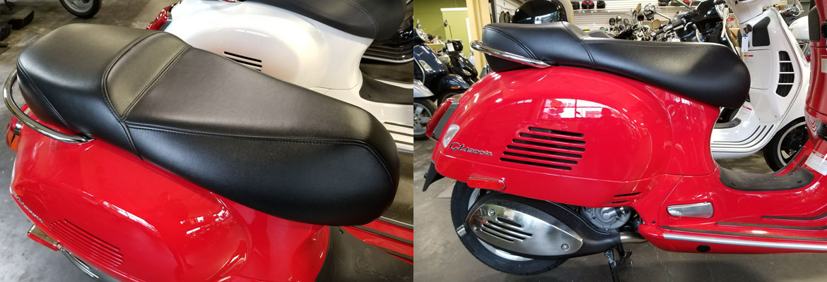 Vespa GTS and GTV 300 Custom Low Profile Leather Seat