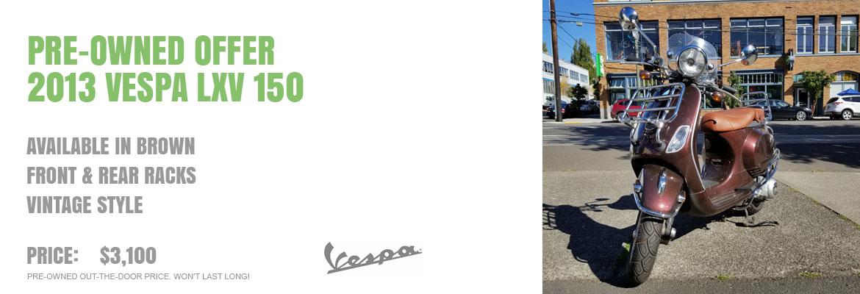 2013 Vespa LXV 150