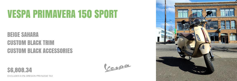 Customized 2020 Vespa Primavera 150 Sport