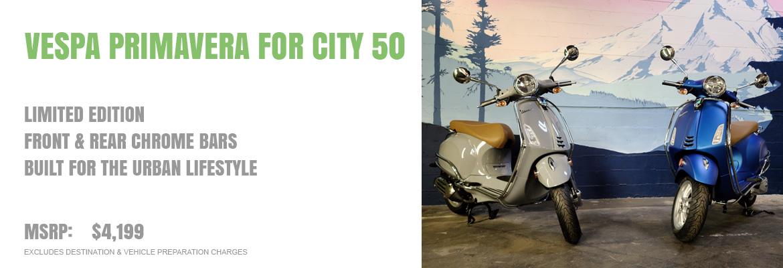 2021 Vespa Primavera For City 50
